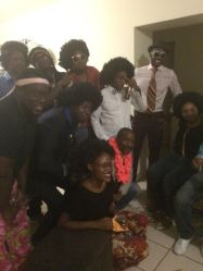 Some of the crazy outfits from the party! The theme was 70s soul :)