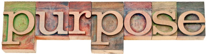 purpose word in letterpress wood type