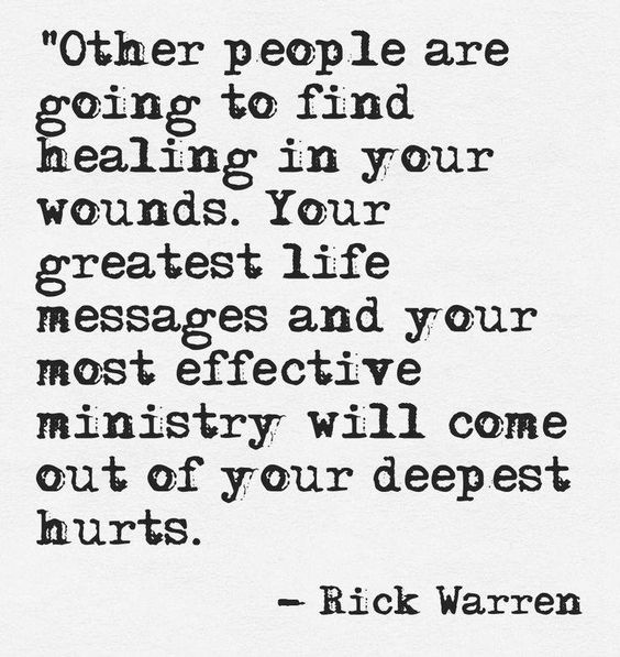 Healing quote Rick Warren