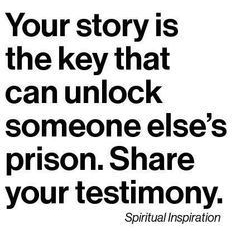 your story is the key