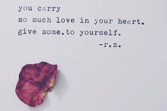 Give some love to yourself