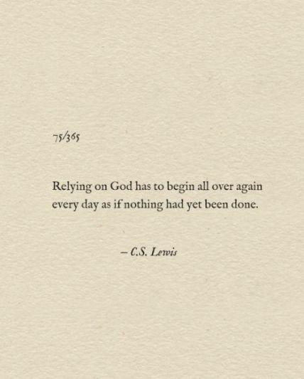 Relying on God