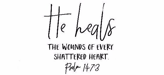 He heals the wounds