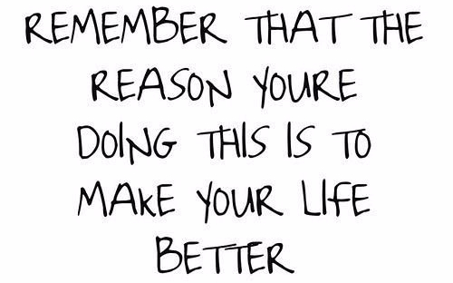 Remember that the reason you're doing this