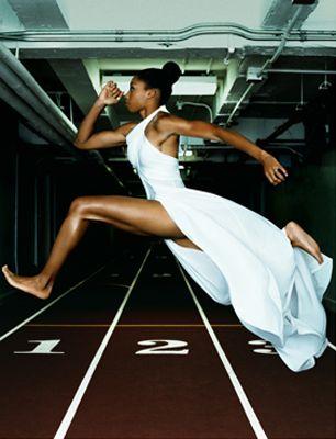 black female runner