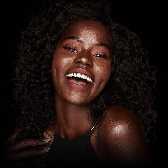 laughing black woman