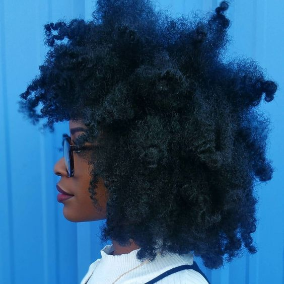 Long thick natural hair