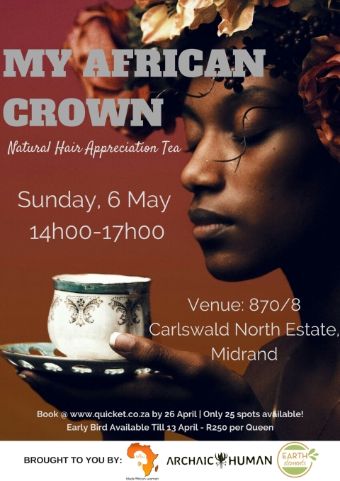 Natural Hair Appreciation Tea Poster with venue