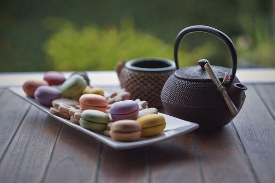 Tea in african garden